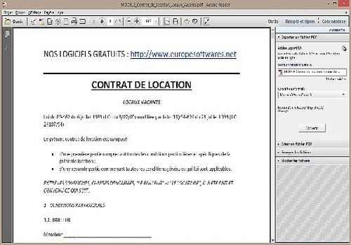 modele contrat de location format word