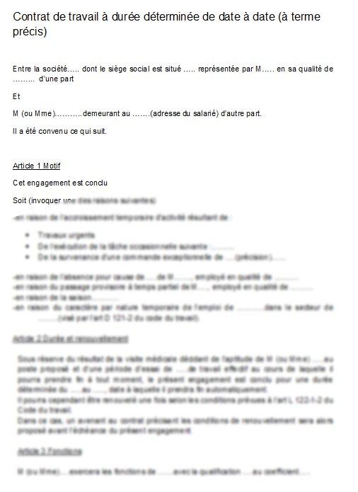b19e5a0fd7c modele contrat de travail cdd word - Modele de lettre type
