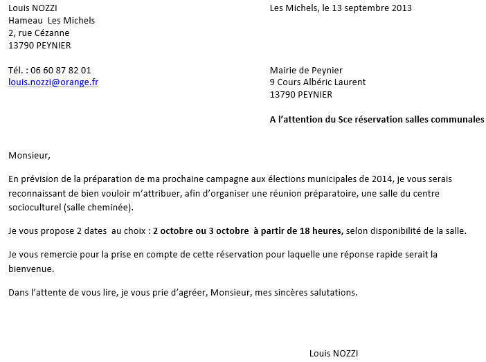 modele courrier reponse negative candidature