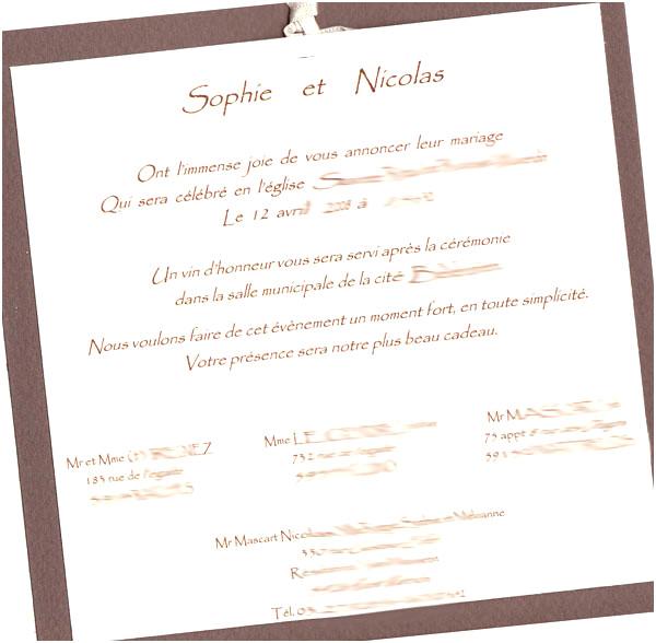 modele d'invitation de mariage gratuit