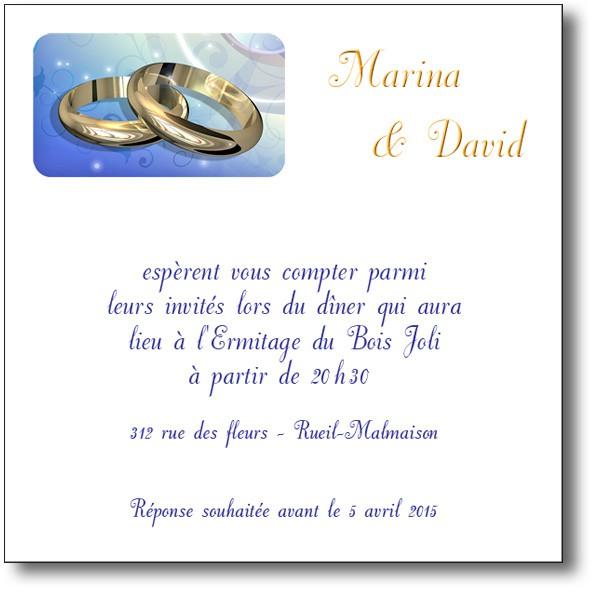 modele d invitation de mariage