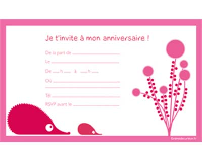 modele de carte d'invitation d'anniversaire gratuite