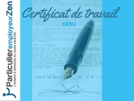 modele de certificat de travail cesu - Modele de lettre type