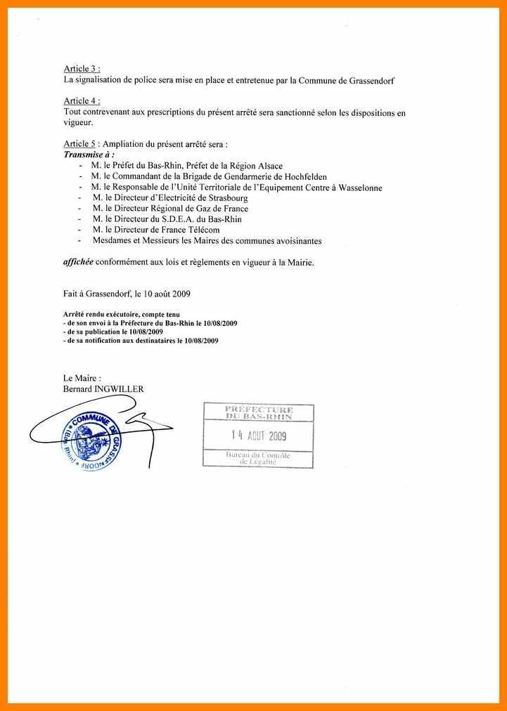 modele de delegation de signature