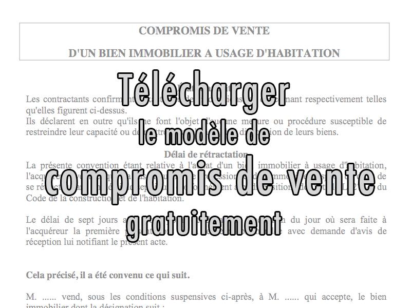 modele de lettre de compromis de vente