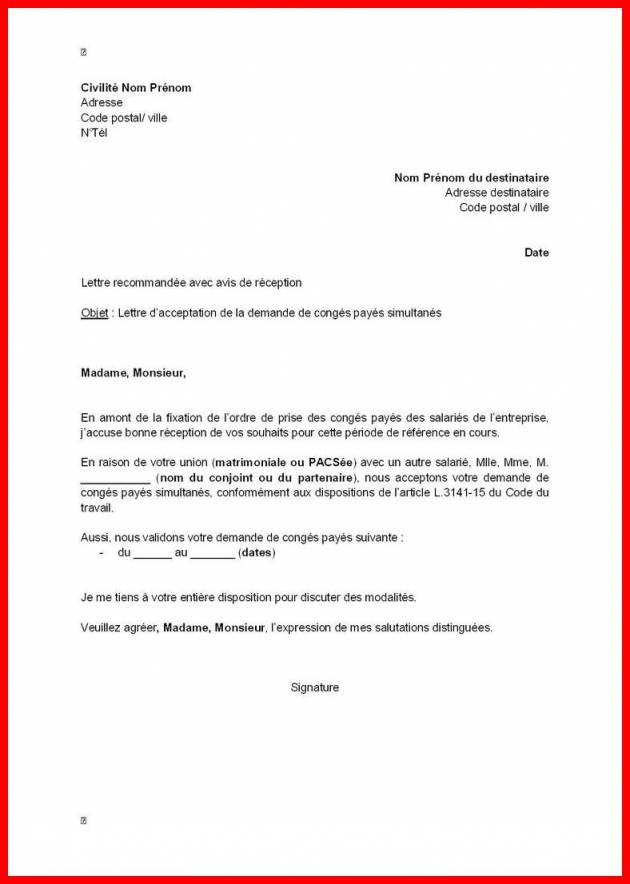 modele de lettre de demission gratuite cdi - Modele de lettre type