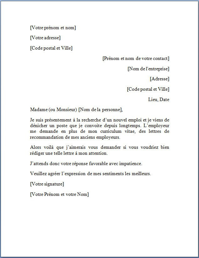 modele de lettre de demission gratuite - Modele de lettre type