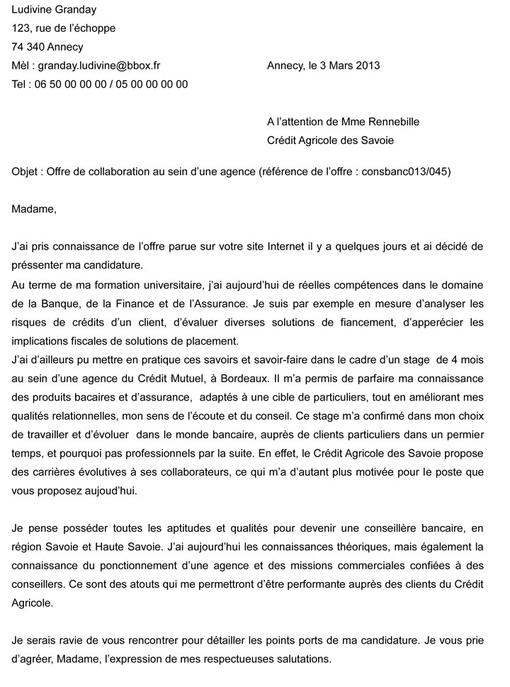 modele de lettre de motivation contrat pro