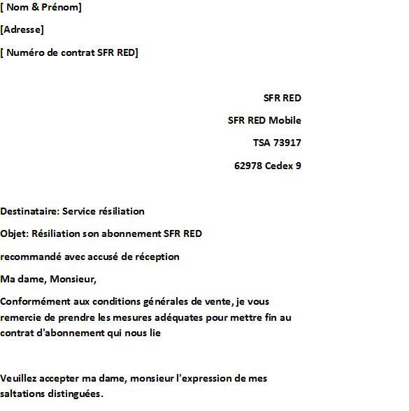 modele de lettre de resiliation d'assurance - Modele de lettre type