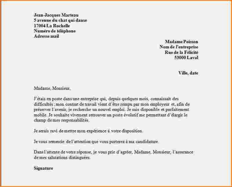 modele de lettre de rupture de contrat d'apprentissage