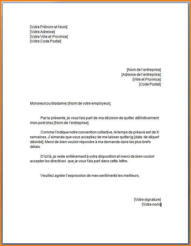 modele de lettre demande d embauche