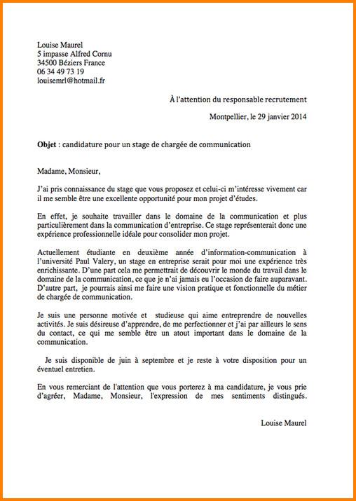 lettre de motivation changement de poste en interne