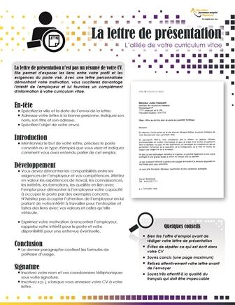 modele de presentation cv