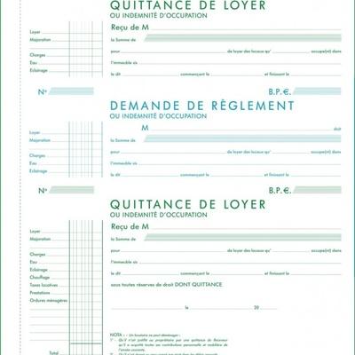 Modele De Quittance De Loyer A Imprimer Modele De Lettre Type