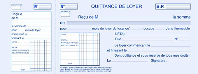 Modele De Quittance De Loyer Gratuit A Imprimer Modele De Lettre Type
