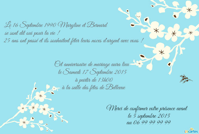 Modele Invitation Anniversaire Mariage Modele De Lettre Type
