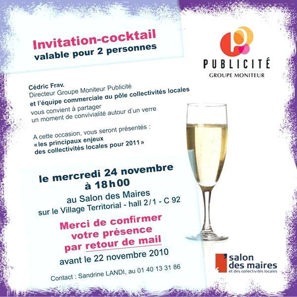 modele invitation cocktail