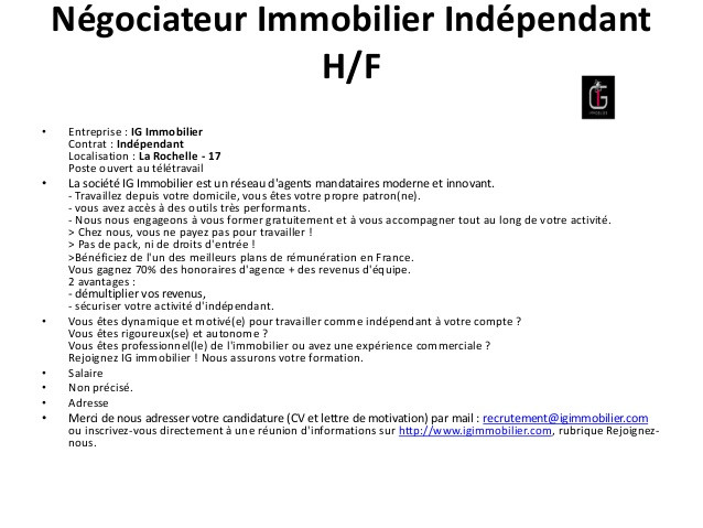 modele lettre agence immobiliere