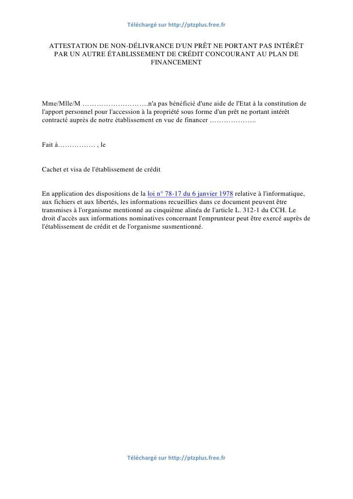 modele lettre attestation