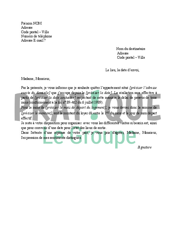 trame de lettre de motivation manuscrite a telecharger