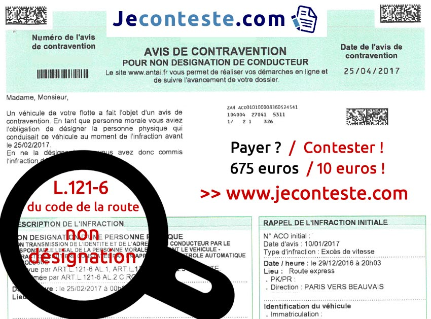 modele lettre de contestation contravention