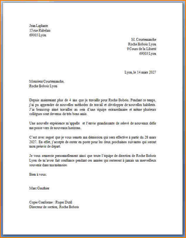 modele lettre de demission mutation conjoint