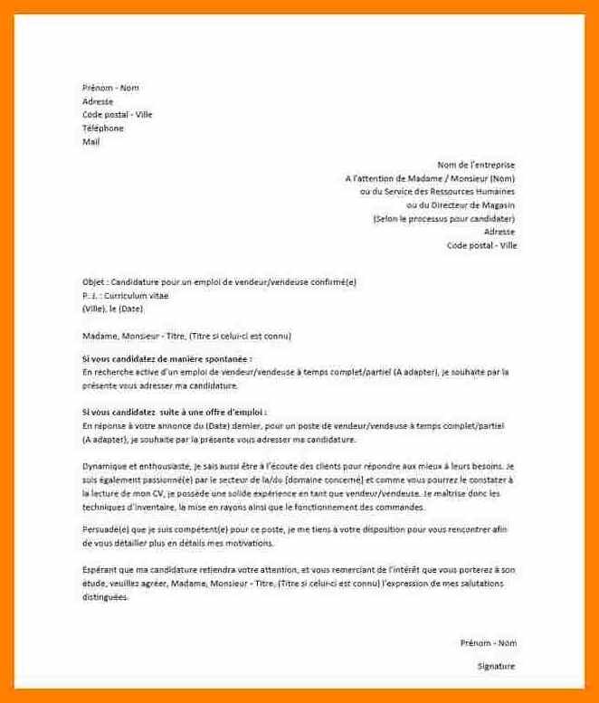 modele lettre de motivation gratuite candidature spontanee - Modele de lettre type