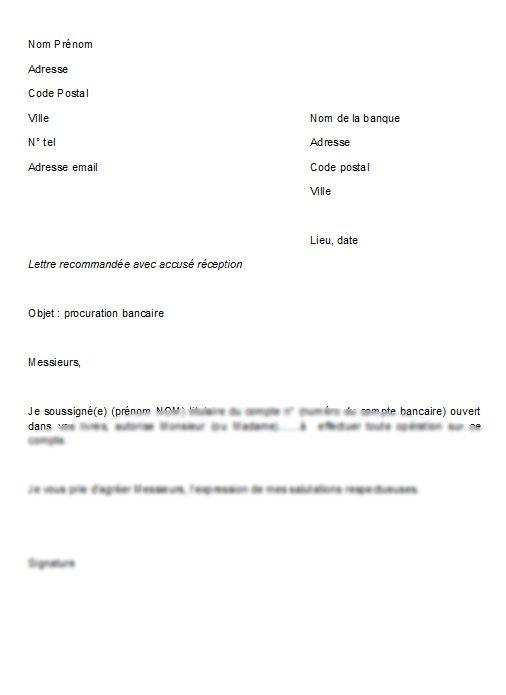 modele lettre de procuration