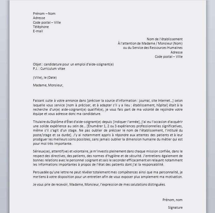 modele lettre de recommandation professionnelle