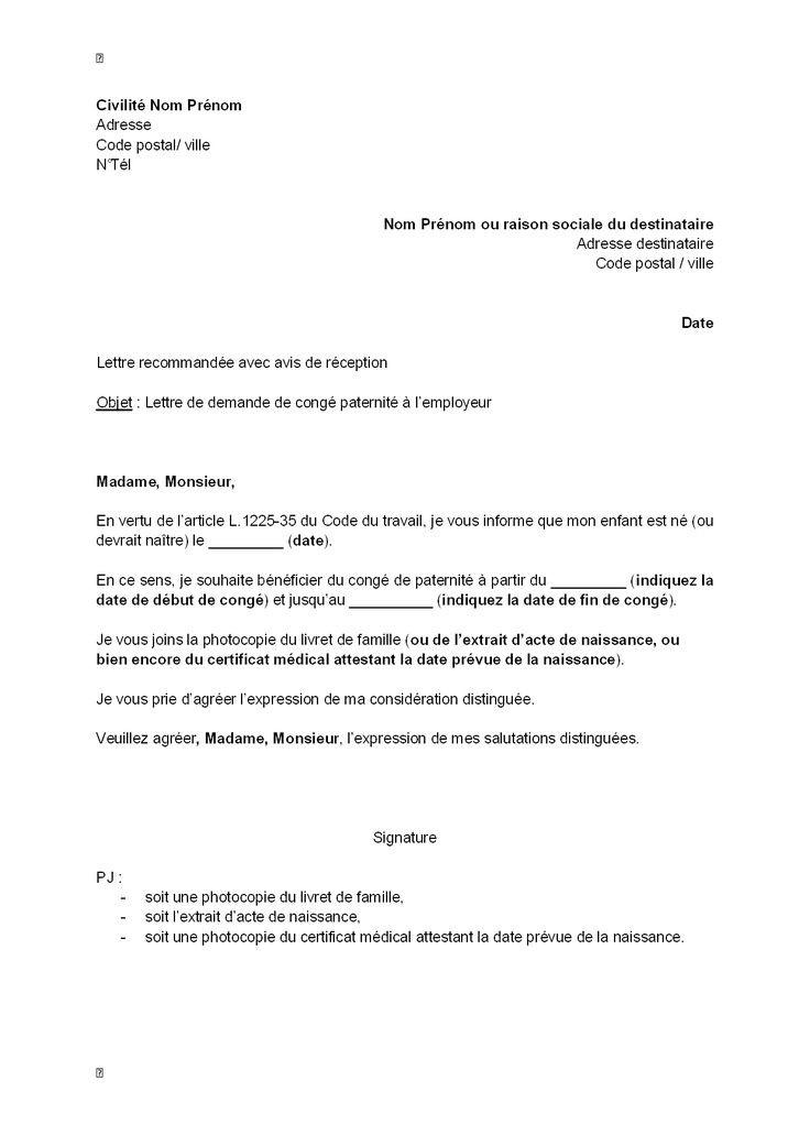 modele lettre de reintegration apres disponibilite