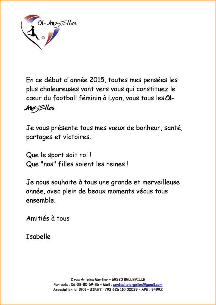 modele lettre de voeux