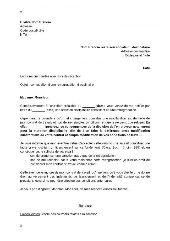 modele lettre gratuite reclamation