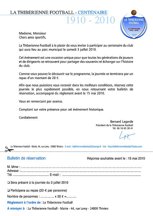 modele lettre invitation maire