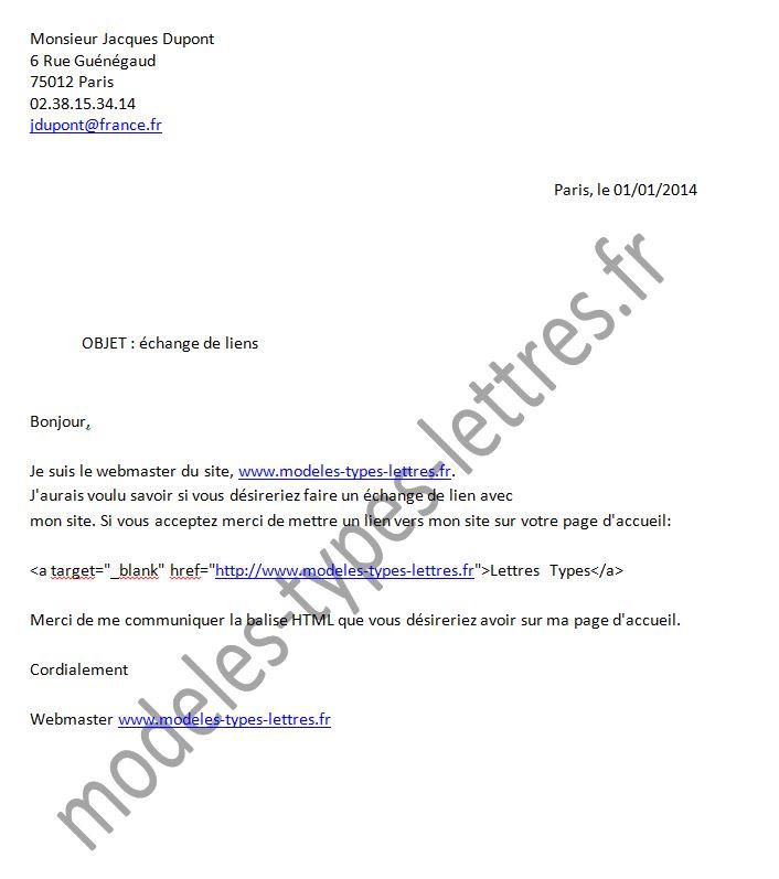 modele lettre reclamation internet