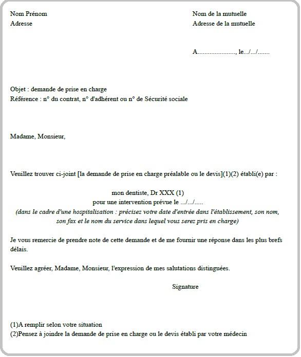 modele lettre refus mutuelle