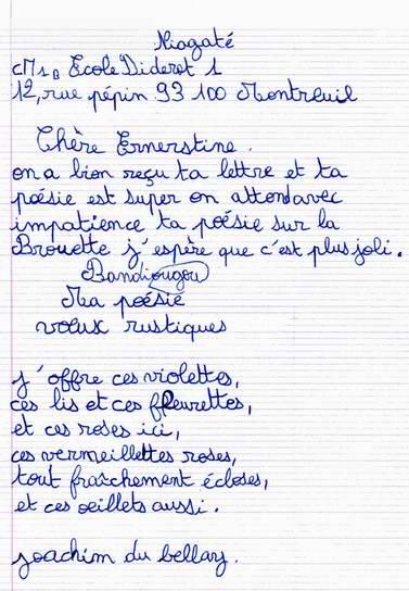 modele lettre remerciement maitresse