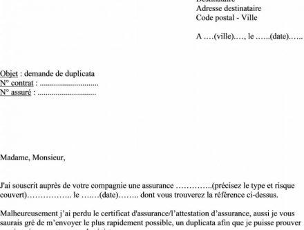 modele lettre resiliation sfr chomage - Modele de lettre type