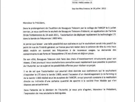 modele lettre resiliation telephone bouygues telecom