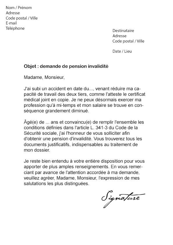 modele lettre retraite fonctionnaire