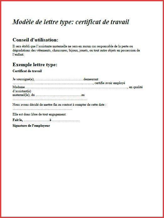 modele lettre rupture contrat nounou