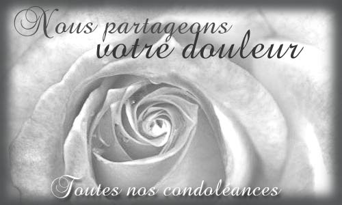 modele message de condoleances