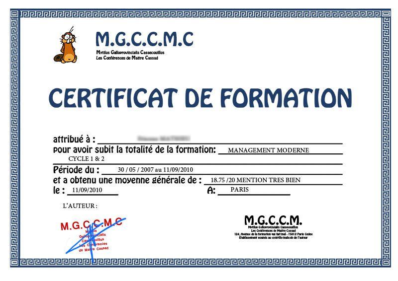 modeles de certificat