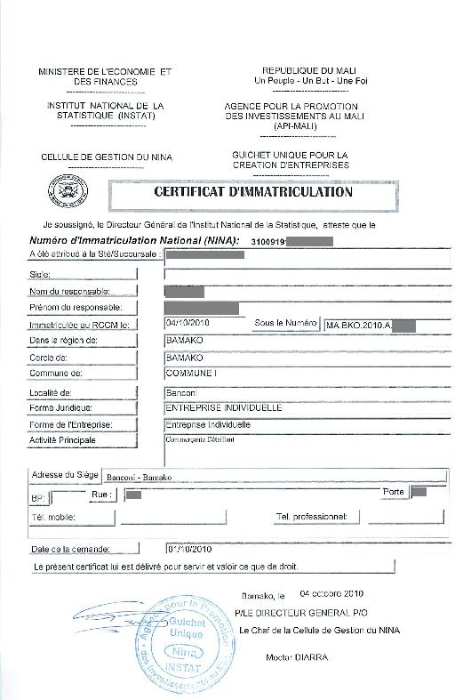 obtenir certificat impots