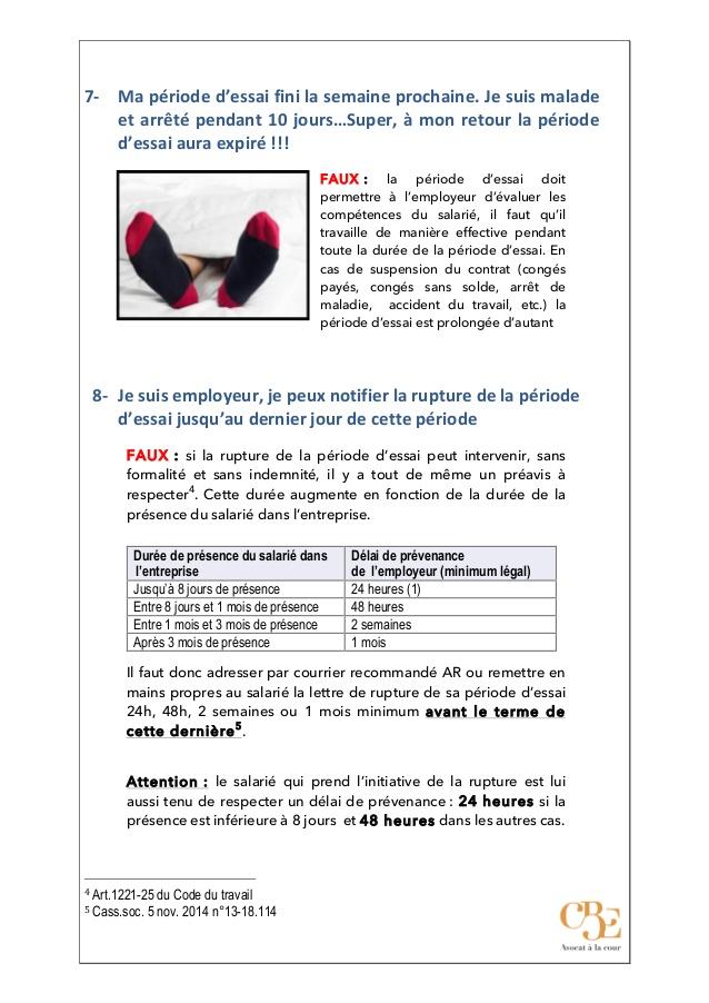 Periode D Essai Non Concluante Modele De Lettre Type