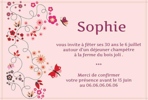 Poeme Pour Invitation D Anniversaire Modele De Lettre Type