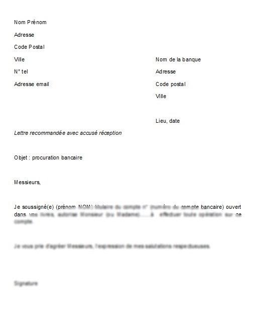 procuration courrier type
