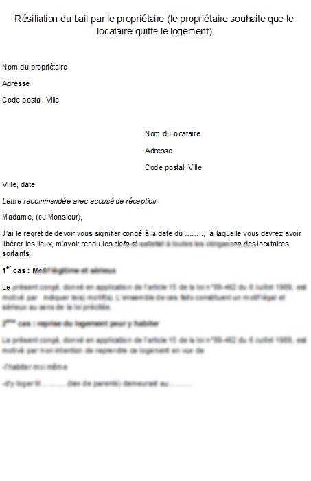 renom appartement lettre type