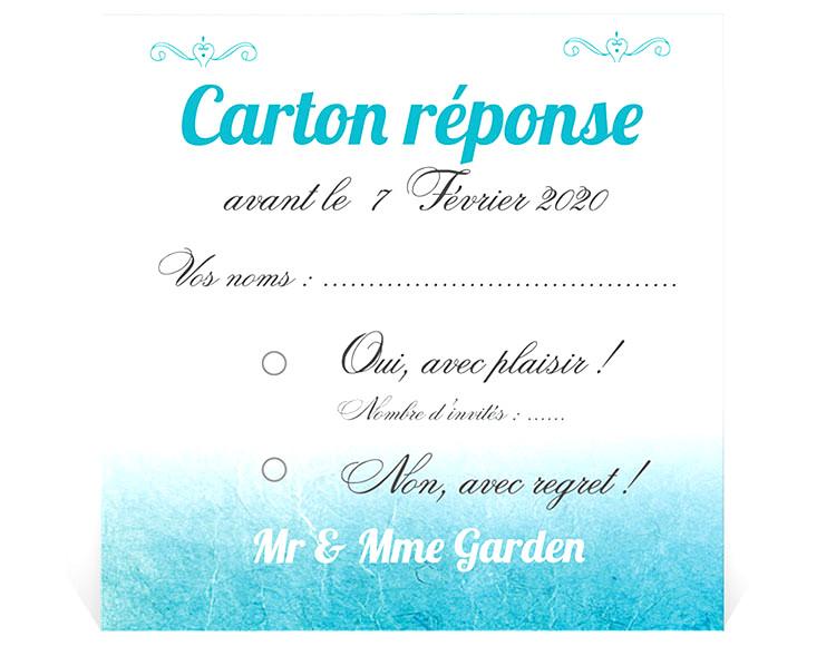 reponse negative invitation mariage