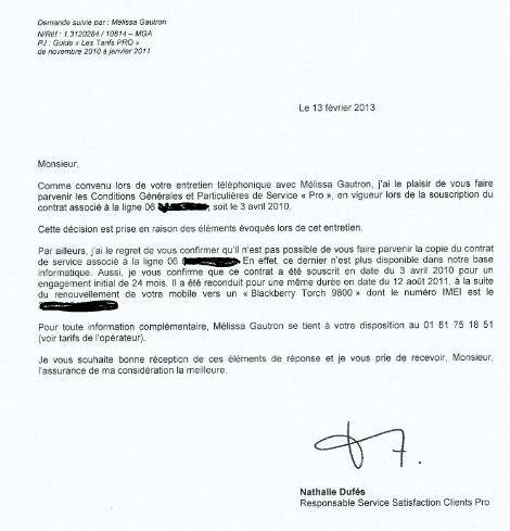 Resiliation Abonnement Bouygue Telecom Modele De Lettre Type