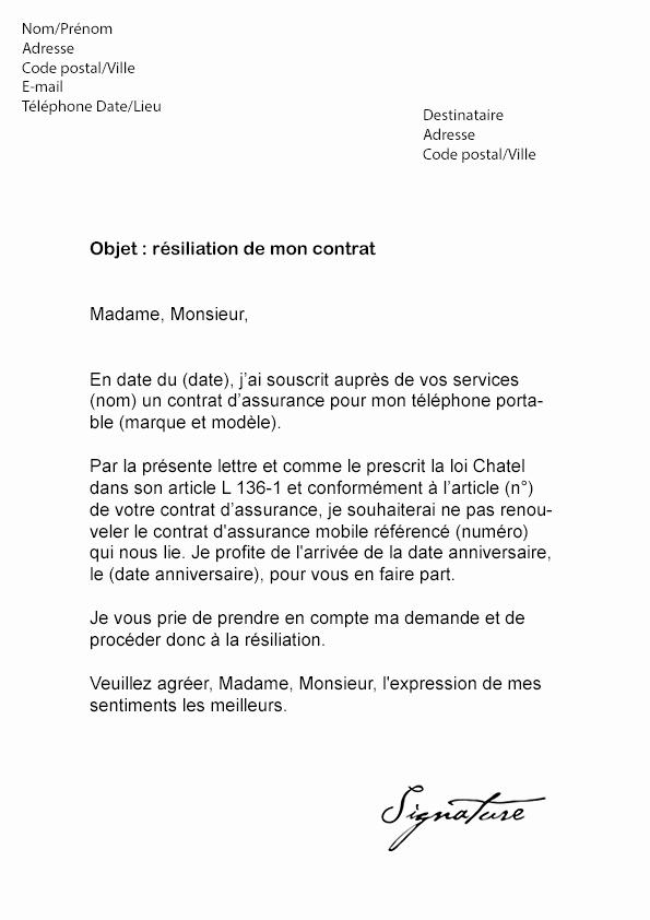 resiliation assurance cwi